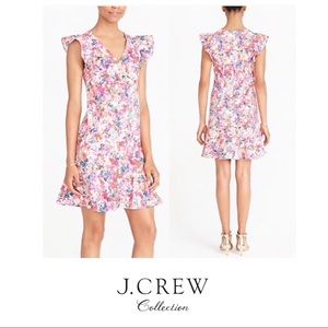NEW J. Crew Floral Printed Ruffle Plus Dress